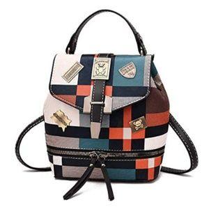 Mini Backpack Purse PU Leather for Women